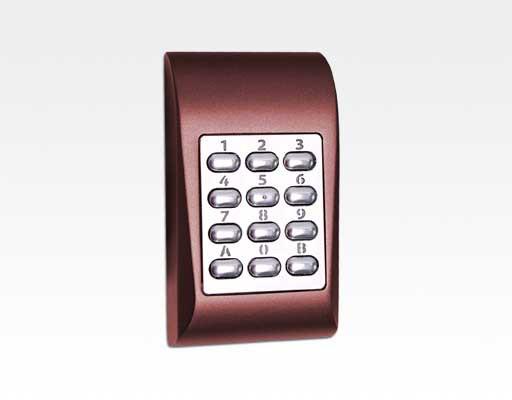 Codetastatur kompakt Alu rot für den Innen und Aussenbereich / 99 User, 1 Ausgang, Sabo, 12/24VAC/DC