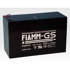 FIAMM Notstromakku Blei-Gel 12V 7,2 Ah VdS GF5079 / Wartungsfrei für Dauerpufferung