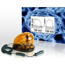 Drehlicht für KFZ 12VDC / Magnetfuß , Spiralkabel mit Kfz-Stecker