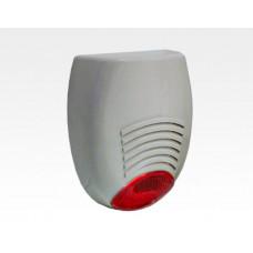 Signalgeber Optisch-Akustisch silber mit LED Blitzlicht / EN 50131 Grad2 SR136
