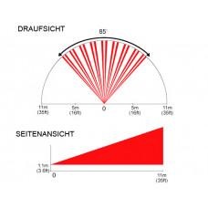Bewegungsmelder Linse Horizontal für DG85 und PMD85 / Erfassungsbereich 11m/85°