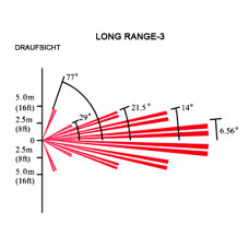 Bewegungsmelder Linse Long Range 27m / für DG65, QU60, PMD1, PMD2P