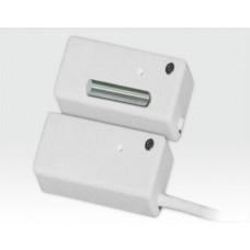 Erschütterungsmelder mit Magnetkontakt, Relaisausgang und Timer / Weiss 2m Kabel
