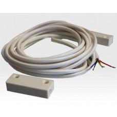 Magnetkontakt verdrahtet Aufbau 4adrig ws / EN 50131 Grad2  40cm