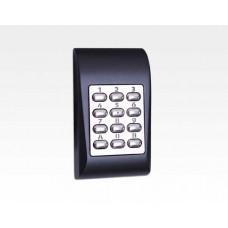 Codetastatur kompakt Alu blau für den Innen und Aussenbereich / 99 User, 1 Ausgang, Sabo, 12/24VAC/DC