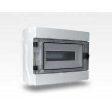 Stromverteiler IP65 DIN Hutschiene 35mm TE12 / inkl. Schloss mit 2 Schlüssel