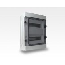 Stromverteiler DIN Hutschiene 35mm TE24  IP65 / inklusive Schloss mit 2 Schlüssel
