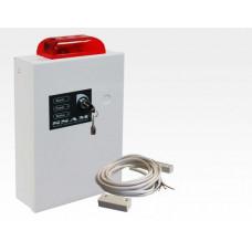 Fluchttürsicherung kompakt mit Sirene und Blitzlicht erweiterbar / Platz für 1,2Ah 12V Bleigelakku