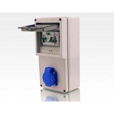 Wandstromverteiler Leitungsschutzschalter Stromzähler 6A / fertig verdrahtet BxHxT 125x250x125mm