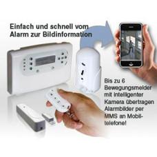 MtEye - Pima- FunkAlarm+Videobild MMS System Kit EN50131 Gr.2 Cl.2 / inkl.Funk-BW mit integ.Farbkamera und HS