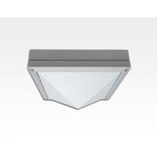 5W LED Wand/Deckenleuchte grau quadratische Pyramide TageslichtW / 6000-6500K 450lm 230VAC IP65 120Grad