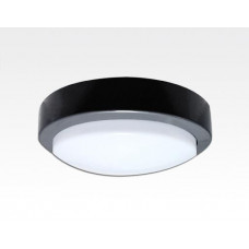 3W LED Wand/Deckenleuchte anthrazit rund Tageslicht Weiß / 6000-6500K 135lm 230VAC IP65 120Grad