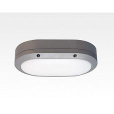 5W LED Wand/Deckenleuchte grau oval Tageslicht Weiß / 6000-6500K 225lm 230VAC IP54 120Grad