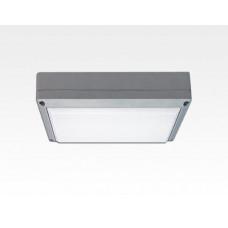 9W LED Wand/Deckenleuchte grau rechteckig Tageslicht Weiß / 6000-6500K 405lm 230VAC IP54 120Grad