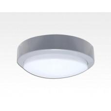 10W LED Wand/Deckenleuchte grau rund Tageslicht Weiß / 6000-6500K 450lm 230VAC IP65 120Grad