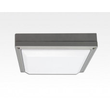 13W LED Wand/Deckenleuchte grau quadratisch Tageslicht Weiß / 6000-6500K 560lm 230VAC IP54 120Grad