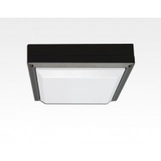13W LED Wand/Deckenleuchte anthrazit quadr. Tageslicht Weiß / 6000-6500K 560lm 230VAC IP54 120Grad