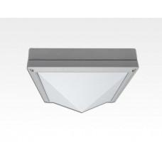 13W LED Wand/Deckenleuchte grau quadr. pyramide Tageslicht Weiß / 6000-6500K 560lm 230VAC IP54 120Grad