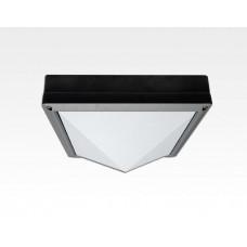 13W LED Wand/Deckenleuchte anthrazit quadr. pyr. Tlicht Weiß / 6000-6500K 560lm 230VAC IP54 120Grad
