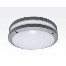 20W LED Wand/Deckenleuchte grau rund Tageslicht Weiß / 6000-6500K 900lm 230VAC IP54 120Grad