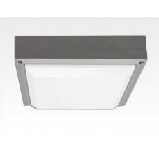 20W LED Wand/Deckenleuchte grau quadratisch Tageslicht Weiß / 6000-6500K 900lm 230VAC IP54 120Grad