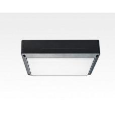 9W LED Wand/Deckenleuchte anthrazit rechteckig Warm Weiß / 2700-3200K 405lm 230VAC IP54 120Grad