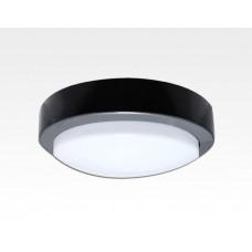 10W LED Wand/Deckenleuchte anthrazit rund Warm Weiß / 2700-3200K 450lm 230VAC IP65 120Grad