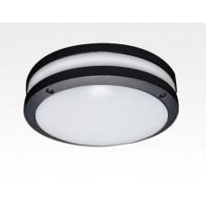 20W LED Wand/Deckenleuchte anthrazit rund Warm Weiß / 2700-3200K 900lm 230VAC IP54 120Grad