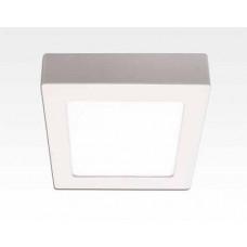 18W LED Aufbauleuchte weiß quadratisch dimmbar Neutral Weiß / 4200-4700K 1530lm 230VAC IP40 110Grad