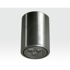 3W LED Aufbau Downlight silber rund Warm Weiß / 2700-3200K 180lm 230VAC 120Grad
