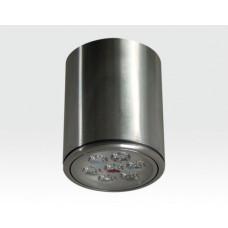 7W LED Aufbau Downlight silber rund Warm Weiß / 2700-3200K 450lm 230VAC 120Grad