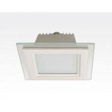 12W LED Einbau Downlight weiß quadratisch dimmbar Neutral Weiß / 4200-4700K 1150lm 230VAC IP44 110Grad