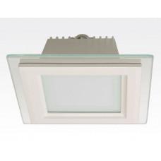 18W LED Einbau Downlight weiß quadratisch dimmbar Neutral Weiß / 4200-4700K 1530lm 230VAC IP44 110Grad