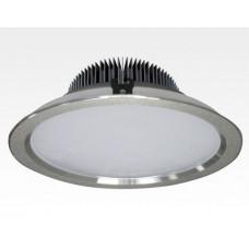 24W LED Einbau Downlight silber rund dimmbar Neutral Weiß / 4000-4500K 2400lm 230VAC IP43 120Grad