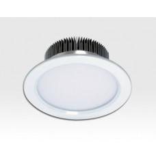 18W LED Einbau Downlight weiß rund dimmbar Warm Weiss / 2700-3200K 1800lm 230VAC IP43 120Grad
