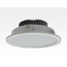 36W LED Einbau Downlight weiß rund dimmbar Warm Weiß / 2700-3200K 3024lm 230VAC IP20 120Grad