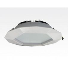 12W LED Einbau Downlight weiß dimmbar Warm Weiß / 2700-3200K 1200lm 230VAC IP43 120Grad