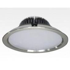 30W LED Einbau Downlight silber rund dimmbar Warm Weiß / 2700-3200K 3000lm 230VAC IP43 120Grad