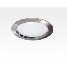 5W LED Einbau Downlight Edelstahl gebürstet rund dim.NeutralWeiß / 4000-4500K 320lm 230VAC IP40 120Grad