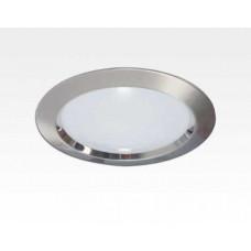 9W LED Einbau Downlight Edelstahl gebürstet rund dim.NeutralWeiß / 4000-4500K 630lm 230VAC IP40 120Grad