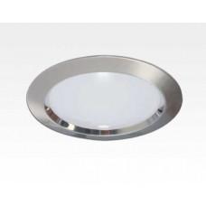 15W LED Einbau Downlight Edelstahl gebürstet rund dim. Warm Weiß / 2800-3300K 1100lm 230VAC IP40 120Grad