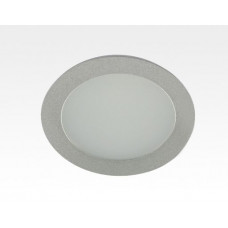 12W LED Einbau Downlight silber rund Warm Weiß / 2500-3300K 900lm 230VAC 120Grad