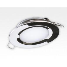 2W LED Einbau Downlight Edelstahl rund Neutral Weiß 1,5m Kabel / 4000-4500K 180lm 24VDC IP65 120Grad