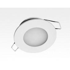 2W LED Einbau Downlight weiß rund Neutral Weiß 1,5m Kabel / 4000-4500K 180lm 24VDC IP65 120Grad