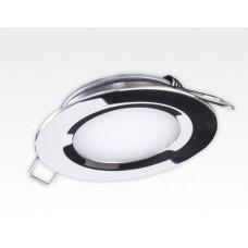 2W LED Einbau Downlight Edelstahl rund Warm Weiß 1,5m Kabel / 2700-3200K 180lm 24VDC IP65 120Grad