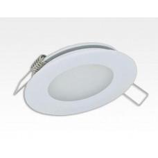 2W LED Einbau Downlight weiß rund Warm Weiß 1,5m Kabel / 2700-3200K 180lm 24VDC IP65 120Grad