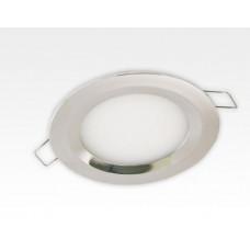 6W LED Einbau Downlight Edelstahl rund Warm Weiß 1,5m Kabel / 2700-3200K 450lm 24VDC IP65 120Grad