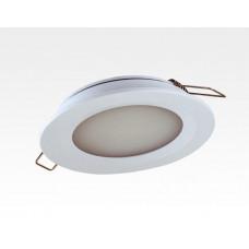 6W LED Einbau Downlight silber rund Warm Weiß 1,5m Kabel / 2700-3200K 450lm 24VDC IP65 120Grad