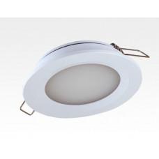6W LED Einbau Downlight weiß rund Warm Weiß 1,5m Kabel / 2700-3200K 450lm 24VDC IP65 120Grad