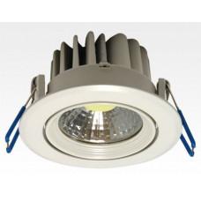 3W LED Einbau Downlight weiß rund Neutral Weiß / 4000-4500K 180lm 230VAC IP44 120Grad